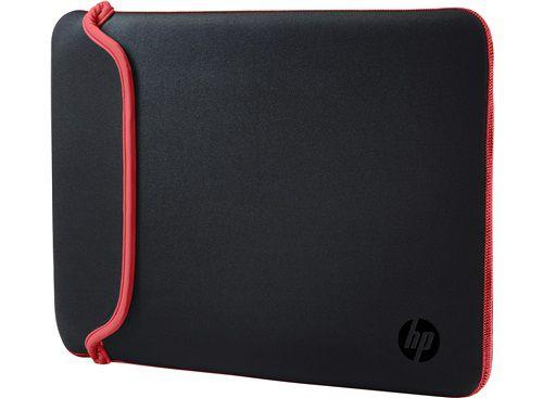 "Capa Sleeve para Notebook 14"" preto vermelho - HP"