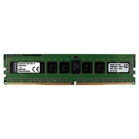Memoria Para Servidor 8gb DDR4 2133mhz ECC Reg CL15 KVR21R15S4/8 - Kingston