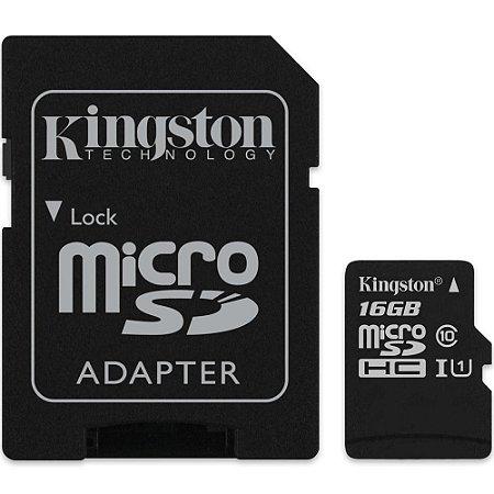 Cartão de Memória Micro SD 16gb CANVAS SELECT - KINGSTON