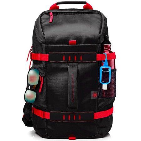 """Mochila pra Notebook 15,6"""" X0R83AA preto/vermelho - HP"""