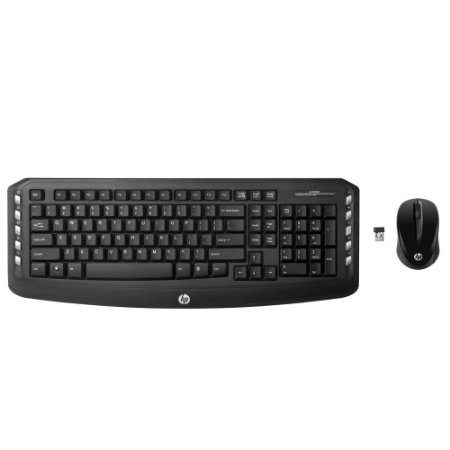 Kit Teclado e Mouse Sem Fio LV290AA Preto - HP