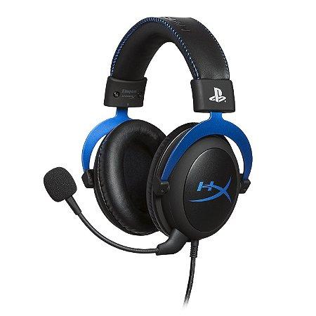 Headset Gamer HyperX Cloud Blue PS4 HX-HSCLS-BL/AM Preto/ Azul - Hyperx