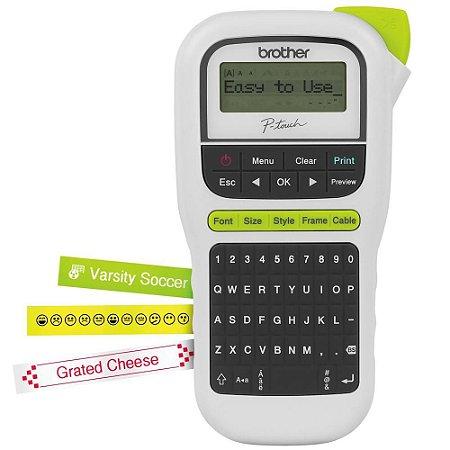 Rotulador Eletrônico Portátil PTH110 - utiliza fitas TZ 12mm - Brother