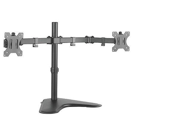 """Suporte Giratório de Mesa para 2 Monitores de 17"""" a 32"""" Preto T1224N - ELG"""