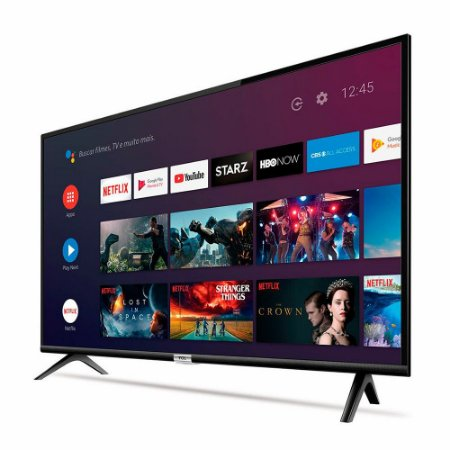 "TV Led FHD TCL 43"" Smart, Android TV, Bluetooth, HDR, Inteligência Artificial, 2 HDMI, 1 USB 43S6500FS - TCL"