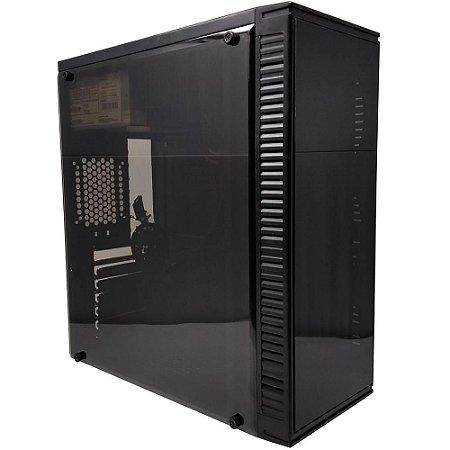 Gabinete Bluecase BG-2514 com Lateral em Acrílico e Fonte 250W, USB 3.0, Preto BG2514GCASE - Bluecase