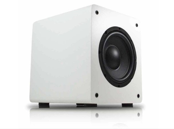 "Subwoofer ativo para Home Theater Wave Sound WSW8 175W RMS 8"" Branco - Wave Sound"