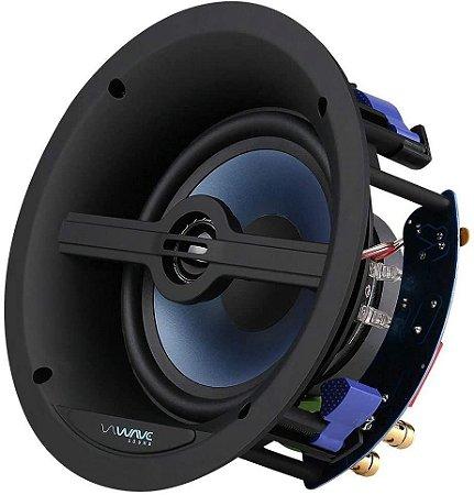 """Caixa De Som De Embutir Acústica Wave Sound WSR120 Tela Slim Quadrada 6,5"""" 120W - Wave Sound"""