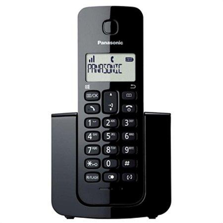 Telefone sem Fio com ID KX-TGB110LBB Preto - Panasonic