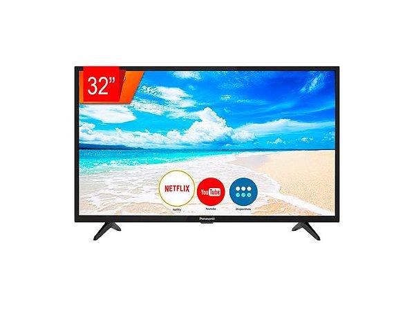 "Smart TV Led Panasonic 32"" HD, Espelhamento de Tela, Media Player, Wi-Fi Integrado, 2 HDMI, 2 USB, 32FS500B - Panasonic"