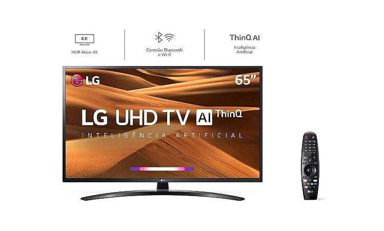 TV 65 Polegadas LG LED Smart Wifi 4k Usb HDMI Comando Voz  - Lg