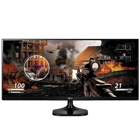 "Monitor LG Gamer LED 25"" IPS Full HD 2560x1080 Ultrawide 25UM58-P - LG"