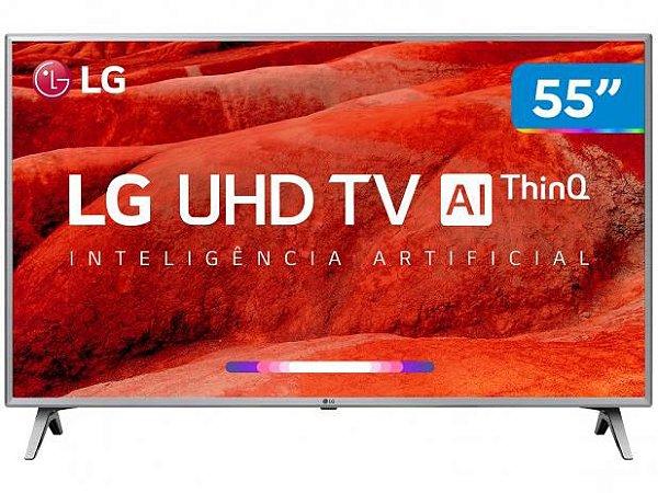 "Smart TV LED UHD 4K 55"" LG 55UM7520 THQAI - LG"
