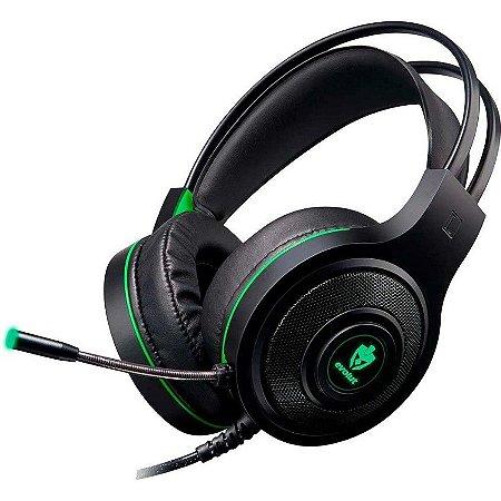 Headset Gamer Evolut Têmis EG-301GR Verde - Evolut