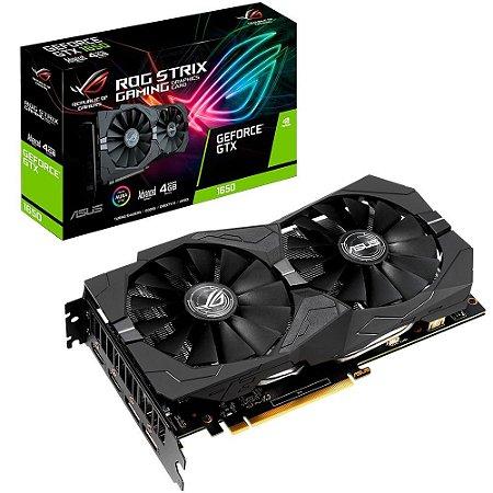 Placa de Vídeo Asus ROG Strix NVIDIA GeForce GTX 1650 4Gb GDDR5 ROG-STRIX-GTX1650-O4G GAMING - Asus