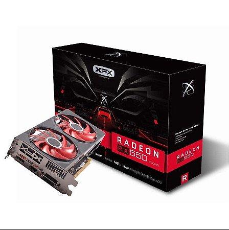 Placa de Video AMD Radeon RX550 4GB Double Dissipation Ddr5 128Bit RX-550P4PFG5 - XFX