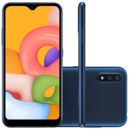 Smartphone Samsung Galaxy A01 32Gb Câmera Dupla 13MP Tela Infinita SM-A015MZBSZTO Azul - Samsung