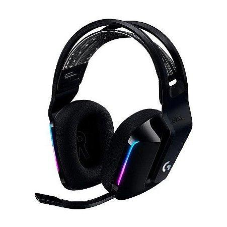 Headset Gamer Logitech G733 Rgb Sem Fio Dolby Surround Preto - Logitech