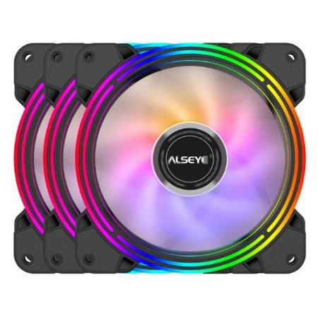 Cooler Kit 3 Fans Gabinete120x25mm Led Rgb Halo 4.0 - Alseye