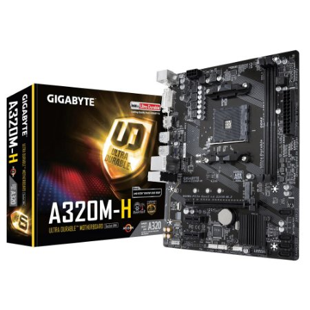 Placa Mãe Gigabyte GA-A320M-H, AMD AM4, mATX, DDR4 - Gigabyte