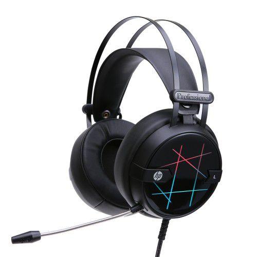 Headset Gamer USB HP H160G Stereo, LED, Black - HP