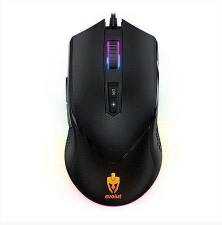 Mouse Gamer Balder 7000Dpi Programável EG-107 Led Rgb - Evolut