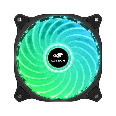 Cooler Fan C3Tech F9-L150RGB Storm 12Cm Led - C3Tech