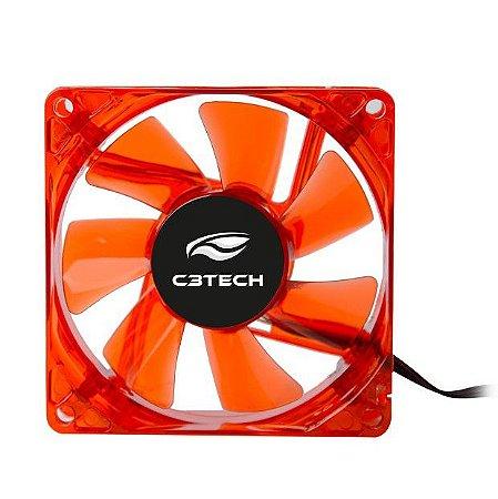 Cooler Fan C3Tech F7-L50RD Storm 8Cm Led - C3Tech