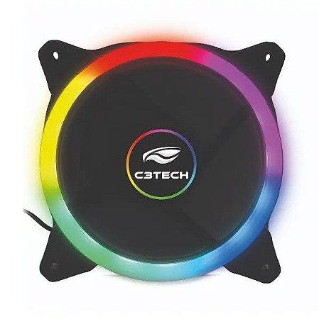 Cooler Fan C3Tech F7-L120M 12Cm Led 5 Cores - C3Tech
