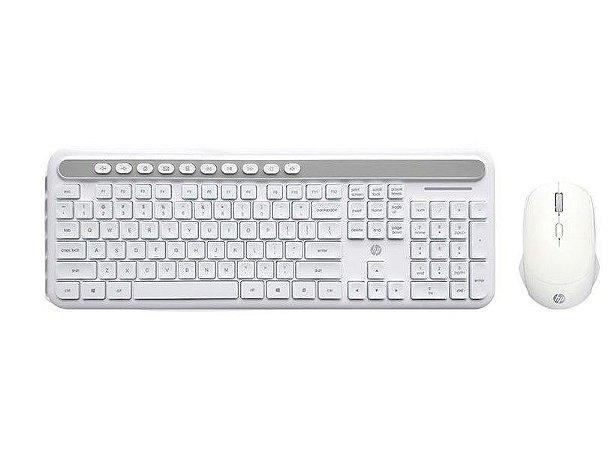 Kit Teclado e Mouse HP Sem Fio CS500 Branco - HP