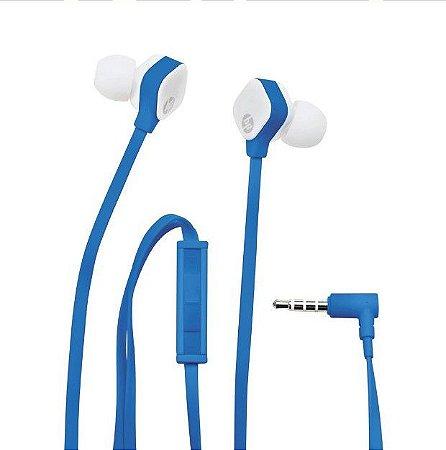 Fone de Ouvido HP Intra Auricular H2310 Azul e Branco - HP