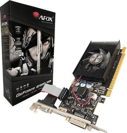 Placa de Vídeo Nvidia Afox GeForce 1Gb GT220 Ddr3 AF220-1024D3L2 - Afox