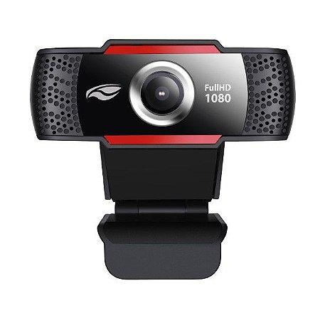 Webcam FullHD Microfone Embutido 1080P WB-100BK - C3Tech