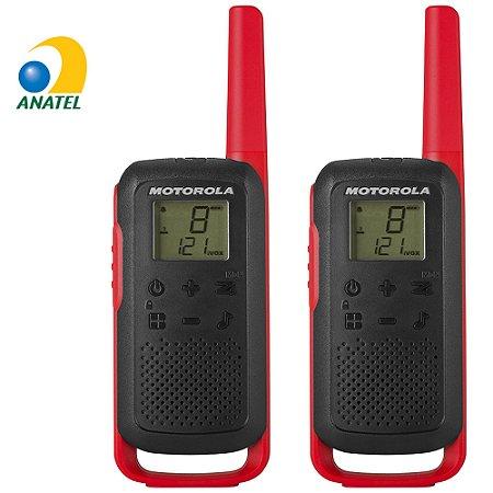 Rádio Comunicador Talkabout 32km T210BR Vermelho e Preto -  Motorola