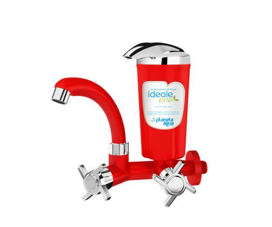 Purificador de Água Ideale Eco Vermelho / Cromado Parede (GBF8412PAG)