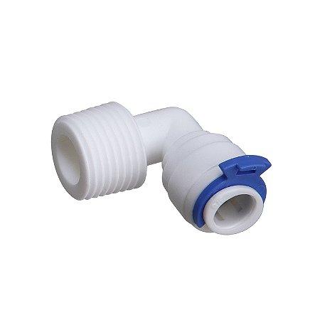 """Cotovelo Plástico com Rosca 1/4"""" e Engate Rápido para Mangueira 5/16"""" (8mm)"""