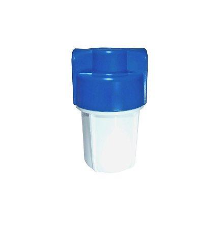 """Carcaça para Filtros de Água 5"""" Branca/ Azul Rosca 1/2"""""""