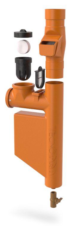 Filtro Para Coleta Água Da Chuva Smart Filtro - Laranja