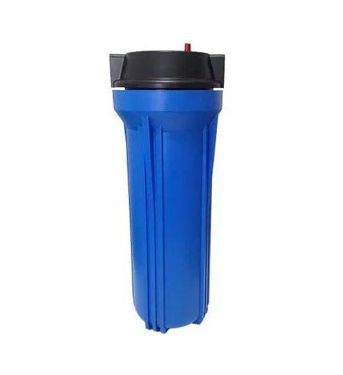 """Carcaça para Filtro de Água 10"""" Azul - Rosca 3/4"""""""