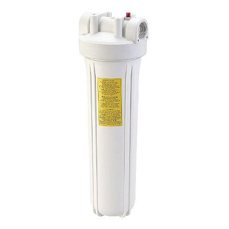 "Carcaça Branca para Filtro de Água Big 20x4,5"" (Vazia)"