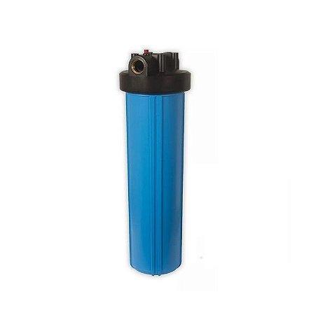 """Carcaça para Filtro Big Blue 20x4,5 Rosca 1"""" Chave e suporte"""