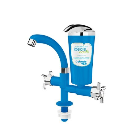 Purificador Água Declorador Ideale Eco Azul/ Cromado Bancada