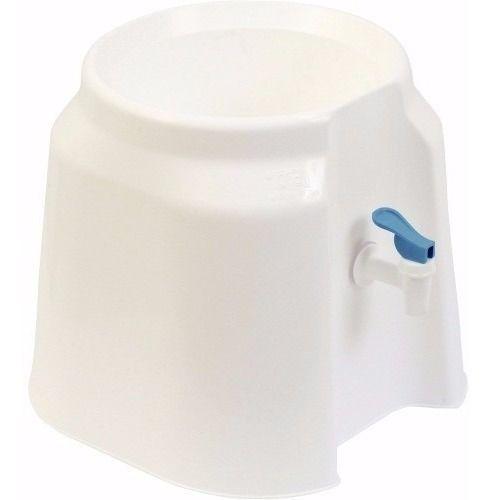 Suporte Branco para Garrafão Agua Com Torneira Alavanca