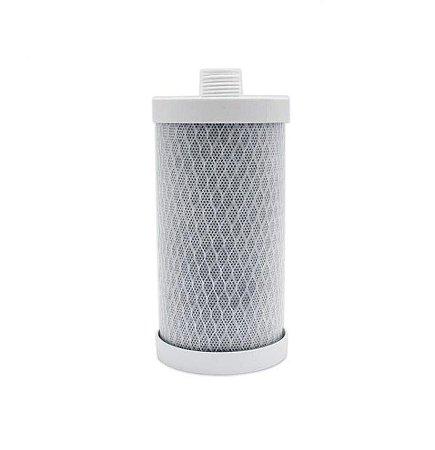 "Elemento Filtrante Carvão Block 6"" - 5 micra - Rosca 1/2"""