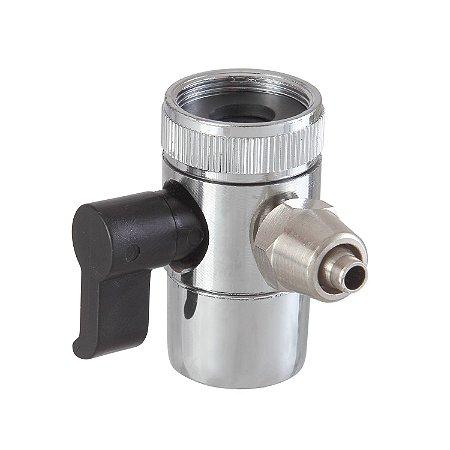 """Adaptador Difusor Metal para Desvio Água - Saída Mang. 5/16"""""""