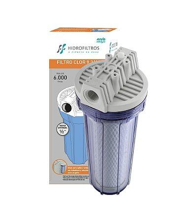 """Filtro p/ Cozinha/ Bebedouros Hidro Filter 9.3/4"""" POU TR"""