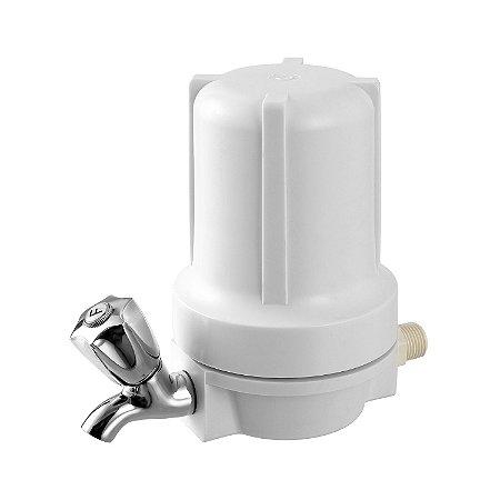 """Purificador de Água para Ponto de Uso Branco 5"""" - Completo"""