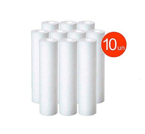 Kit 10 Unidade Refil Polipropileno 20 Micra P/ Filtro Big 20