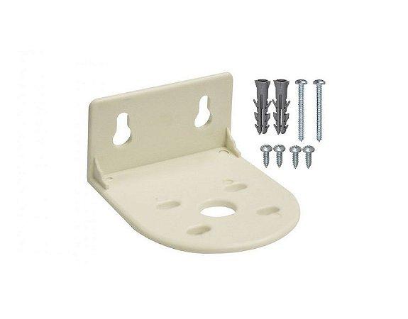"Suporte Plástico Simples p/ Filtro 10x2,5"" com Kit parafusos"