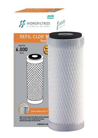 "Refil Carvão Ativado Hidro Filtros para Filtros 7"""